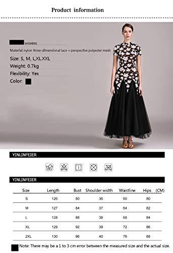 97ce0281b1b8 Acero Festa Foglia Modello Xhtw Elegante amp b Flessibile Gonna Donna  Palcoscenico Di Danza Costumi Bellissimo Concorrenza Pizzo Vestito Abiti  qvA01Znzvx