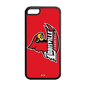 Customize NCAA Basketball Team Louisville Cardinals Back Cover Case for iphone 5C