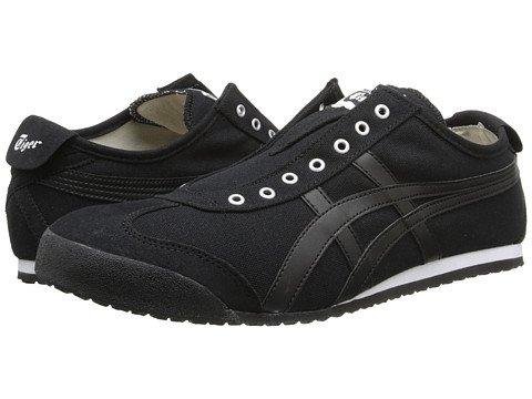 (オニツカタイガー) Onitsuka Tiger ユニセックスランニングシューズスニーカー靴 Mexico 66R Slip-On [並行輸入品] B075RZNR3C Men's 6.5, Women's 8 (24.5cm(レディース25cm)) M ブラック/ブラック