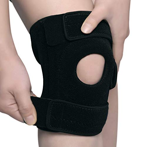 KANGDA Knee Brace For Athletic Arthritis Tendonitis ACL MCL Injury Joint Torn Meniscus Osteoarthritis Tennis Volleyball Basketball Yoga Gym Adjustable Velcro Patella Wrap Neoprene Compression Men Wome