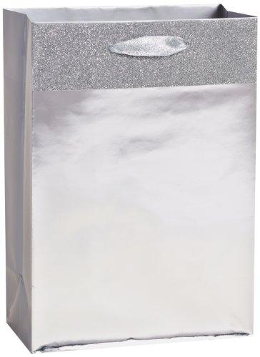 American Greetings Christmas Holiday Medium Gift Bag, Silver