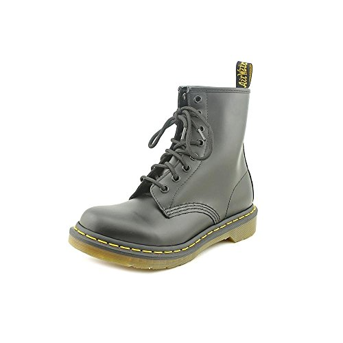 Dr. Martens Womens 1460 8-Eye Patent Leather Boots, Black, 7 B(M) US