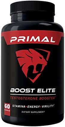 Primal Boost Elite - Male Enhancement - Extra Strength Testosterone Booster - Naturally Boost Your Libido, Stamina, Endurance, Strength & Energy for Men & Women - Burn Fat & Build Lean Muscle Mass