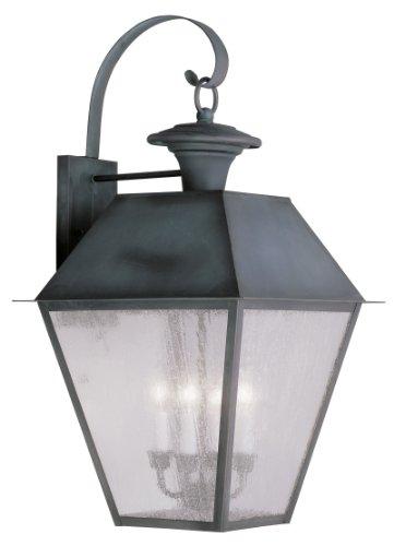 Livex Lighting 2172-61 Mansfield 4-Light Outdoor Wall Lantern, Charcoal