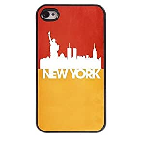 newyork y la estatua del caso duro del patrón de la libertad de aluminio para el iphone 4 / 4s