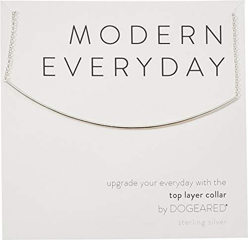 Modern Everyday Necklace - Dogeared Women's Modern Everyday, Top Layer Collar Necklace Sterling Silver One Size