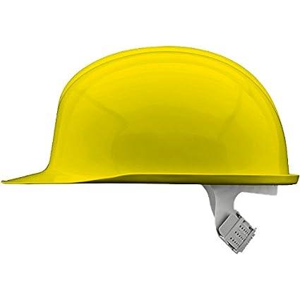 Voss 12231016 - Casco de fibra de vidrio industrial inap-pcg reforzada policarbonato, amarillo