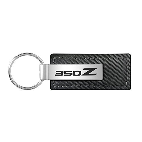 Nissan 350Z Black Carbon Fiber Texture Leather Key ()