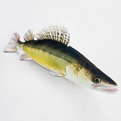 Amazon.com: Walleye peces almohada por Gaby, novedad juguete ...
