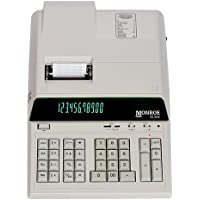 Monroe 8130X Ivory 12-Digit Print/Display Heavy-Duty Calculator, Extended Life Calculator Body From Monroe
