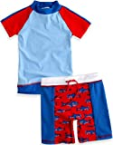 Vaenait Baby Boys 2T-5T Short Sleeve Swimsuit Swim Trunks 2 Pieces Set Jaws Red L