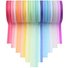 Washi Tape Set 23 Rolls Masking Decorative Tapes for DIY Scrapbooking Crafts Wrapping Thin