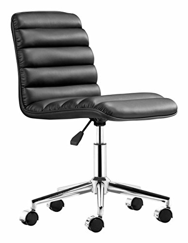 Mid-Back Leather Admire Leatherette Office Chair Finish: Black