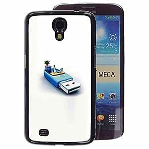 A-type Arte & diseño plástico duro Fundas Cover Cubre Hard Case Cover para Samsung Galaxy Mega 6.3 (Usb Memory Penguin Pc Computer System)