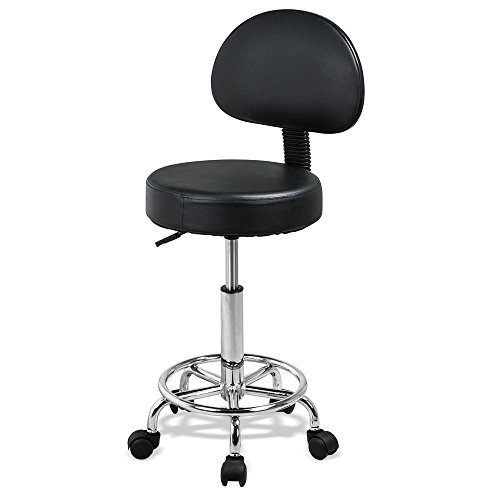 - Yaheetech Adjustable Rolling Salon Stool Hydraulic Saddle Tattoo Facial Massage Spa Chair