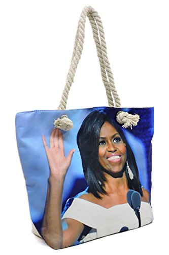 Magazine amp; 3 Dome Glossy Satchel Michelle Obama 1 Set Wallet 2 Canvas Collage Handbag Cover in paqawRd