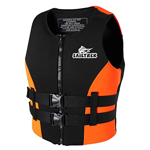 Roeam Life Vest, Water Sports Adult Life Jackets Neoprene Fishing Life Jacket Watersports Kayaking Boating Drifting Safety Life Vest