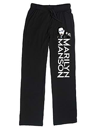 PUS Women's Marilyn Manson Lounge Pajama Pants XL Black
