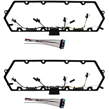 Michigan Motorsports Glow Plug Harness Fits 1997-2003 Ford 7.3 Powerstroke Valve Cover Gasket Fuel Injector QTY 1 1