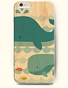 iPhone 6 Case,OOFIT iPhone 6 (4.7) Hard Case **NEW** Case with the Design of Whales and Fish - ECO-Friendly Packaging - Case for Apple iPhone iPhone 6 (4.7) (2014) Verizon, AT&T Sprint, T-mobile by runtopwell