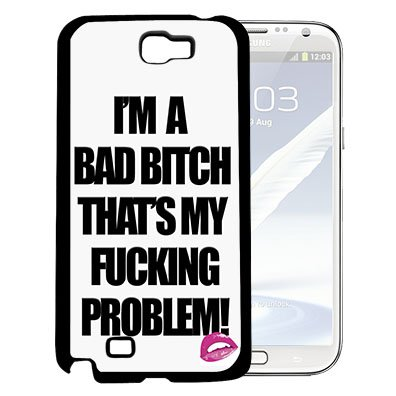 Im A Bad Girl Thats My Problem Quote Hard Snap On Cell Phone Case