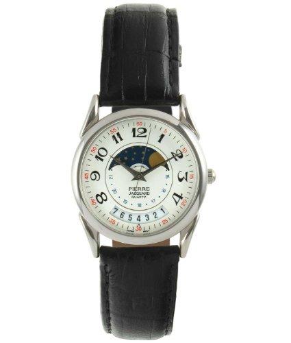 Pierre-Jacquard-Mens-PJ41207-Vintage-Decorative-Moon-Leather-Watch