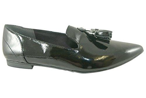 marco tozzi 24237-24 black patent loafer ScubN6o45