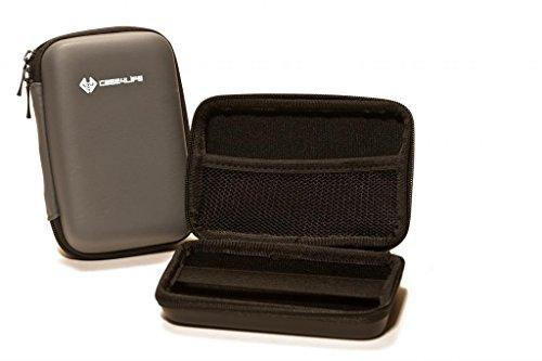 "Case4Life Grey Shockproof Splashproof External Backup Portable 2.5"" Hard Drive Case for Hitachi HGST Touro Mobile Pro, Tour Mobile MX3 500GB, 1TB - Lifetime Guarantee"