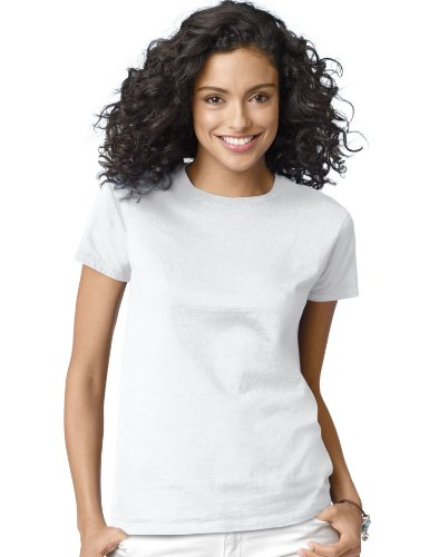 picture of Hanes Women's Relax Fit Jersey Tee 5.2 oz, M-White