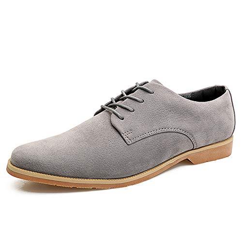 Xujw-shoes, 2018 Scarpe Stringate Basse Business casual da uomo Oxford coglie la tendenza delle scarpe formali a punta stile britannico (Color : Nero, Dimensione : 42 EU) Grigio