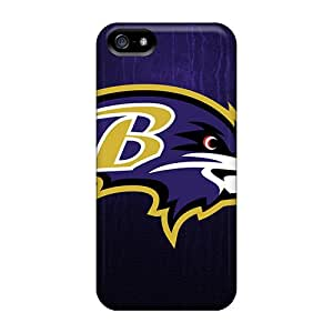 Excellent Hard Phone Cases For Apple Iphone 5/5s With Customized Lifelike Baltimore Ravens Image PhilHolmes