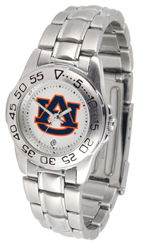 adies Gameday Sport Watch with Stainless Steel Band (Auburn Tigers Womens Stainless Steel)