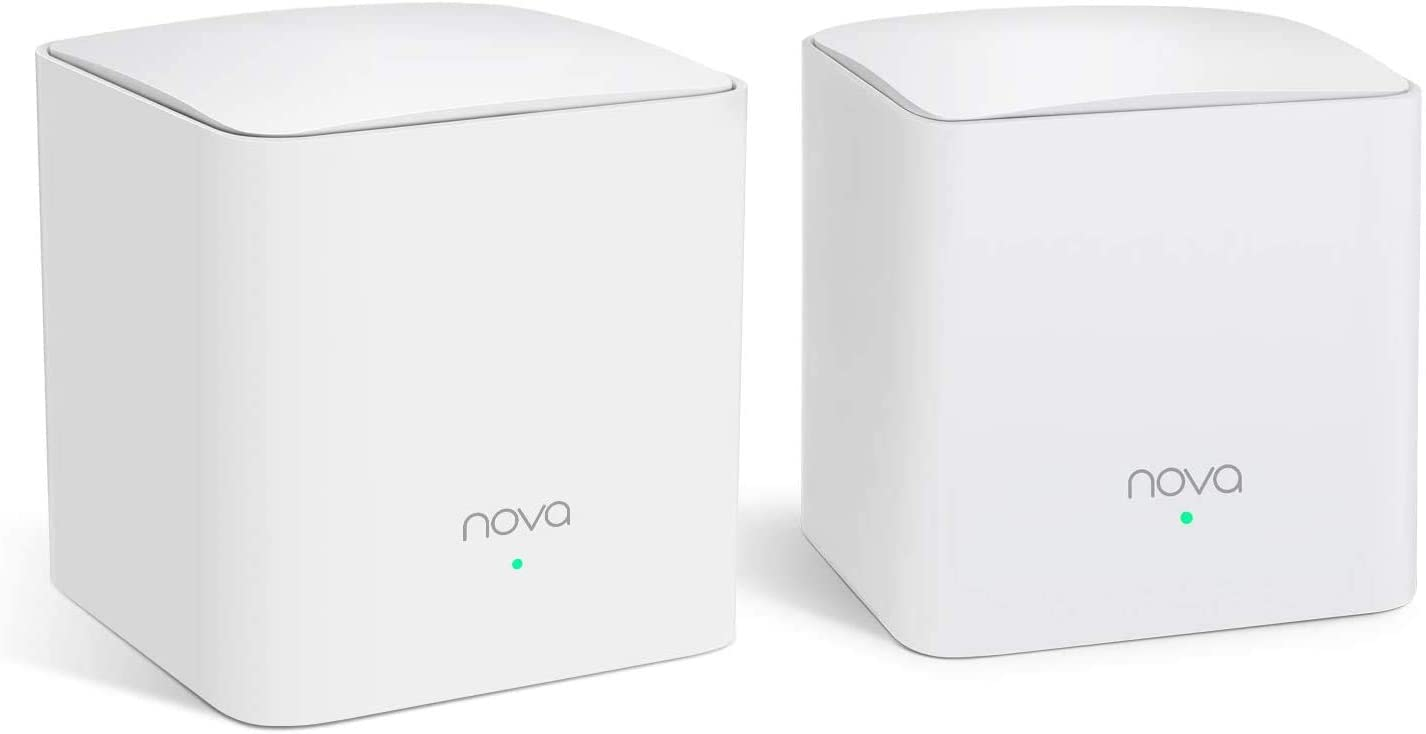 Tenda NOVA Mw5S(2-Pack) Wall-Plug Whole Home Mesh WiFi System, Coverage Up to 2, 500 Sq. Ft, Plug and Play, Router/WiFi Extender Replacement, Gigabit Connection to Your Cable Modem