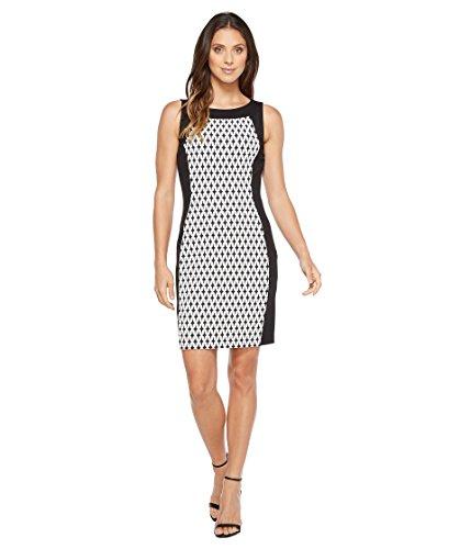 ファセット温度計リブ[カルバンクライン] Calvin Klein レディース Printed Front Panel Ponte Sheath Dress ドレス [並行輸入品]