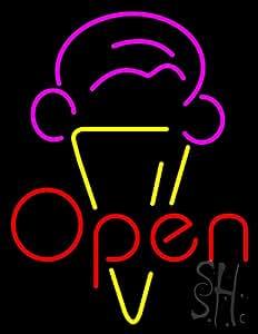 Amazon Red Ice Cream Open Logo Outdoor Neon Sign 31 #2: 41ibxT1F3WL SY300 QL70