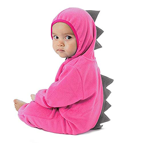 Woaills-Tops 2018 Infant Toddler Zip Clothes Jumpsuit,Baby Girls Boys Dinosaur Hoodie Romper (6-12 Months, Pink 2)