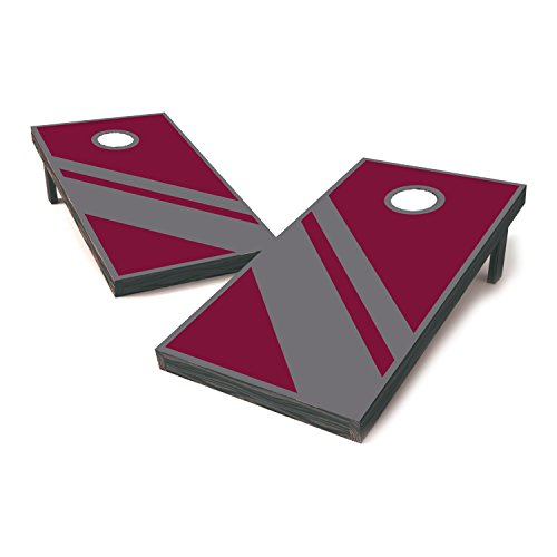 Vinyl Revolution Texas A&M Two Tone College Football Cornhole Sticker Covers/Cornhole Board Decals/Cornhole Board Stickers/Bag Toss Stickers/Dummy Board Decals (Maroon And Grey - Classic)