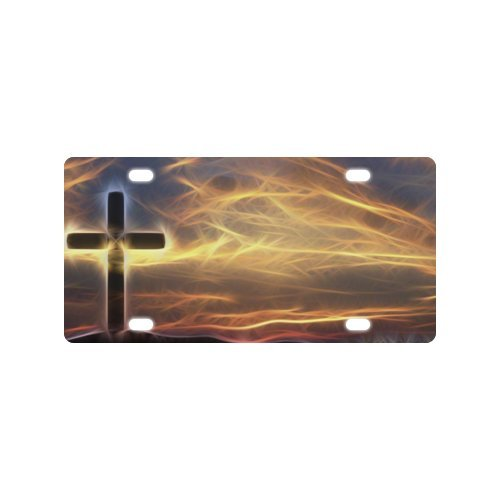 Christian Cross License Plate with made from Aluminum-12