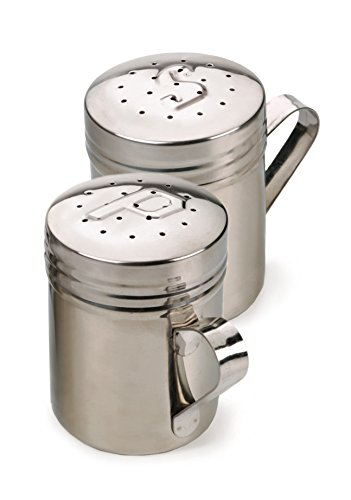 RSVP Endurance 18/8 Stainless Steel Stove Top Salt and Pepper Shakers, 10 ounce (.3L) (Stove Top Salt And Pepper Shakers)