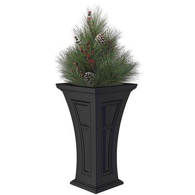YIMBY Heritage Planter with Premium Pine Bough Christmas Arrangement (Boughs Christmas Pine)