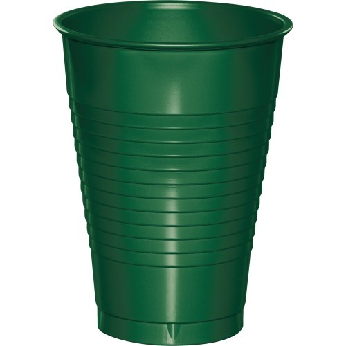 240-Count Touch of Color 12-Ounce Premium Plastic Cups, Hunter Green