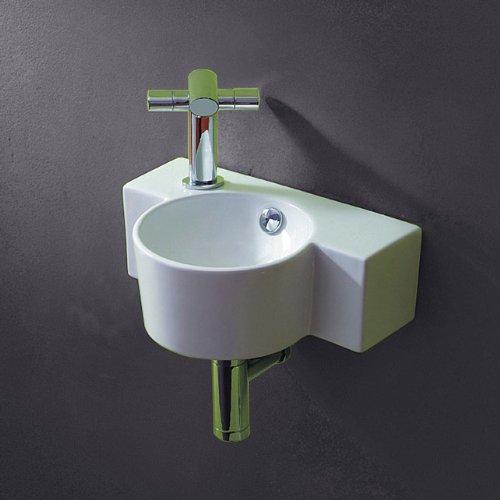 Lux-aqua Gäste-WC Waschbecken zur Wandmontage 4413: Amazon.de: Baumarkt