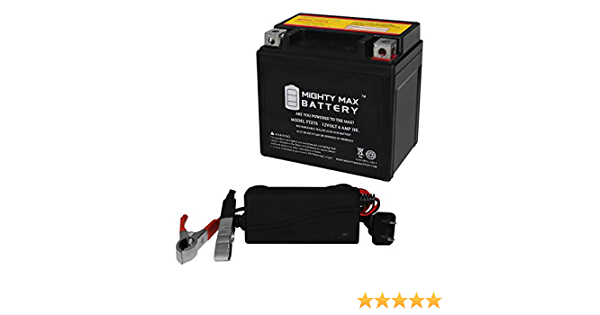 12V 1Amp Charge Mighty Max YTZ7S 12V 6AH Battery for Polaris 50 Predator 04-12