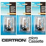 M60 /MC60 60 Minute Micro Cassette / Microcassette (Pack of 3) ---Compatible with: Panasonic RR-900 Transcriber Panasonic RR-930