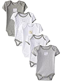 Unisex Baby Short Sleeve Bodysuits, Set of 5, 100%...