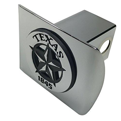 (Texas State Star 1845 METAL Emblem on Chrome METAL Hitch)