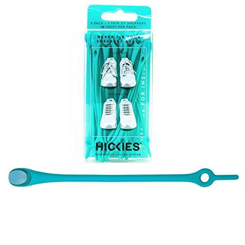 HICKIES 1.0 Originals elastische Schnürsenkel, unisex, Einheitsgröße, kein Schuhe binden, für alle Schuhe geeignet Turquoise