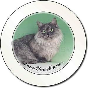 Gato de Munchkin 'Love You Mum' Impuesto de matriculación disco regalo permision