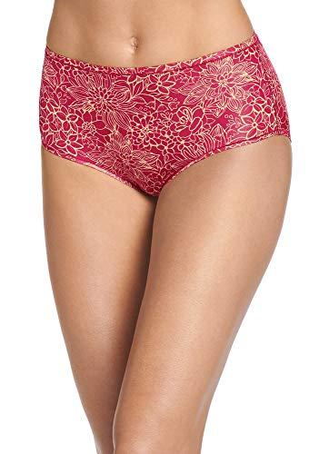 Jockey Women's Underwear Smooth & Radiant Modern Brief, Botanic Garden Red, ()