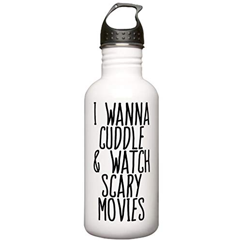 CafePress Cuddle And Watch A Mov Stainless Water Bottle 1 Stainless Steel Water Bottle, 1.0L Sports Bottle